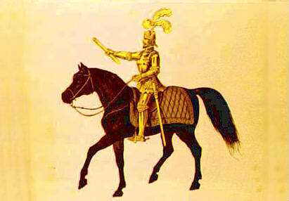 Golden Knight on a horse