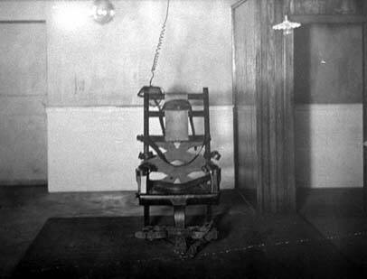 Electric Chair in black and white.