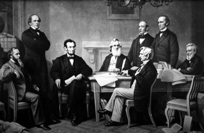 Meeting amongst Political Leaders on Emancipation Proclamation.